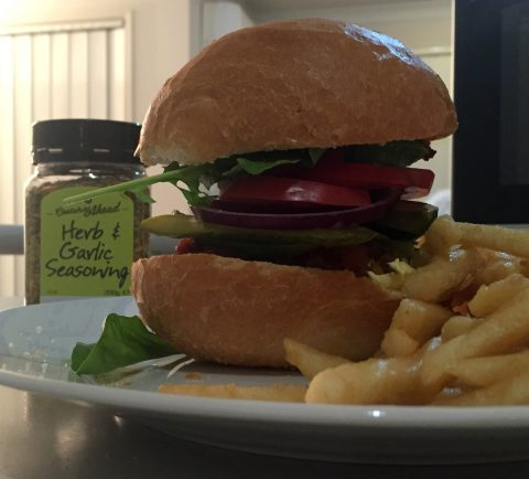 Herb & Garlic burger